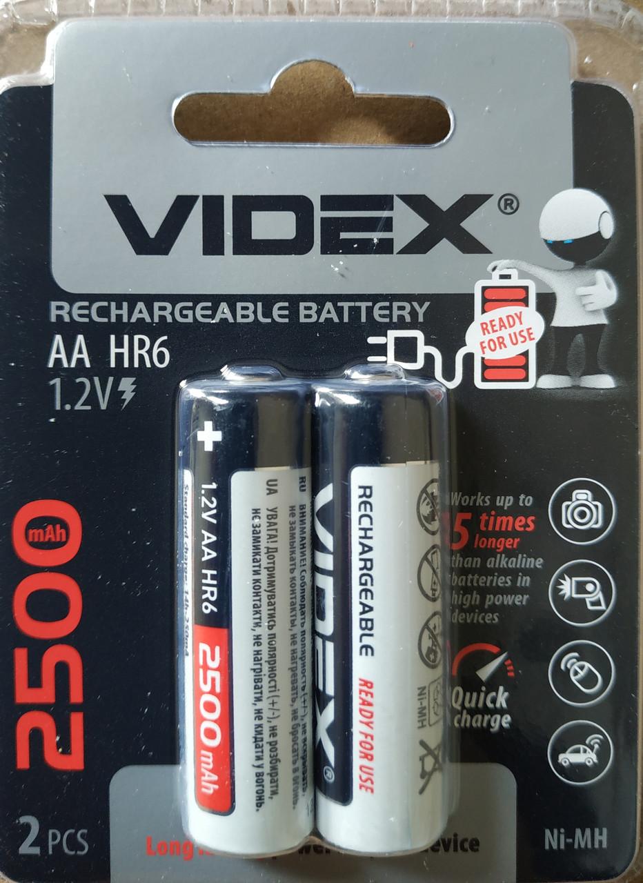 Аккумуляторы Videx HR6/AA 2500mAh