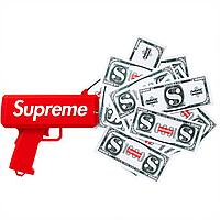 Пистолет для денег топовый с логотипом красный