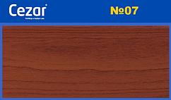 Наличник Cezar 07 Красное дерево 70мм плоский, скрытый монтаж, наличник пластиковый Польша