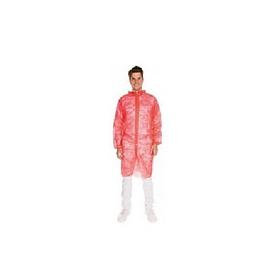 27415 Халат відвідувача поліпропіленовий червоний, 110x140 см XXL, 25 гр/см