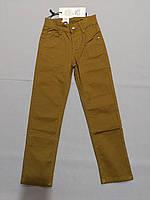 Горчичные катоновые брюки стрейч для мальчика 116 рост, фото 1