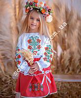 Вишитий костюм для дівчинки Макова роса (2-10років)