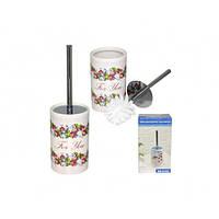 Ершик туалетный S&T Цветочный вальс с подставкой 888-05-005