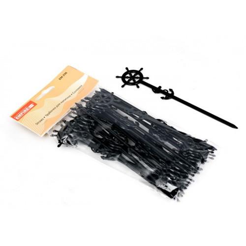 Спажка 25шт пластиковая черная Узелок EM-0298
