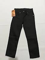 Черные катоновые брюки стрейч для мальчика 6, 7, 8 лет, фото 1