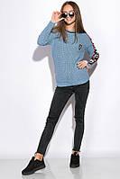 Свитер женский с контрастными вставками 120PVA001 (Голубой), фото 1