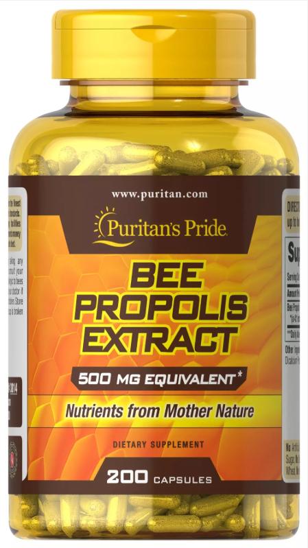 Прополис Puritan's Pride - Bee Propolis Extract 500 мг (200 капсул)