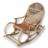 Крісло-качалка плетене