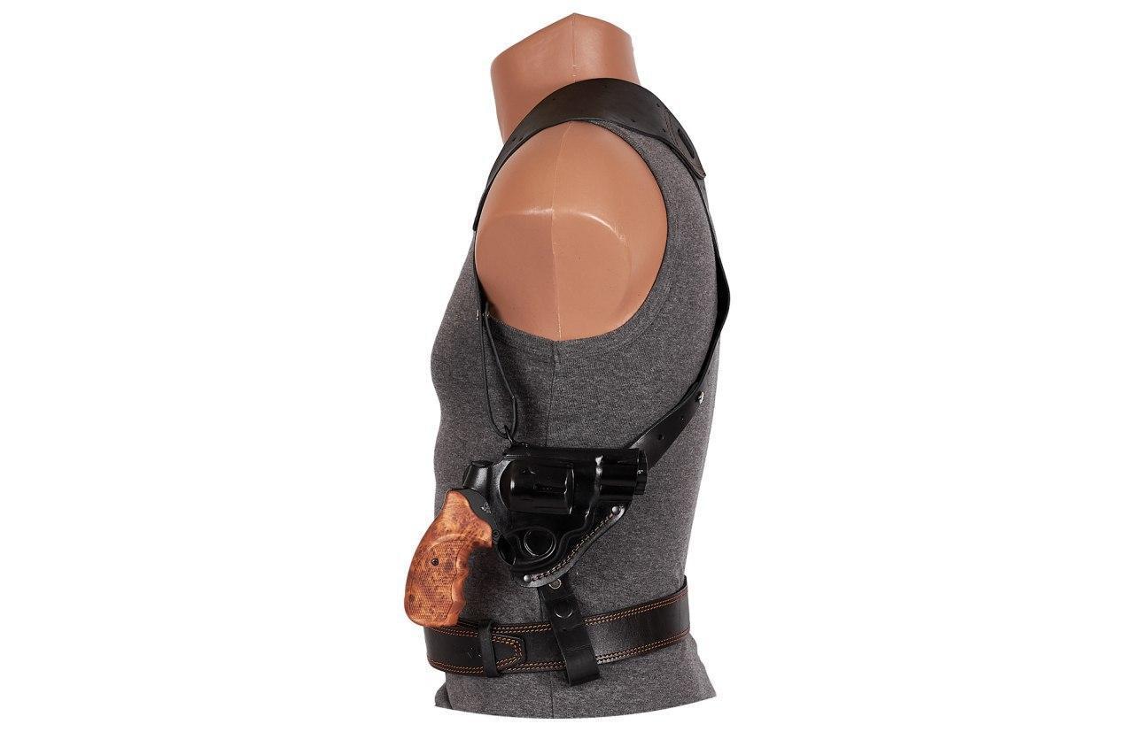 Кобура для Револьвера 2,5/ Скрытого + Поясного ношения/ Оперативная/ под револьвер Флобера (кожаная, 22301)