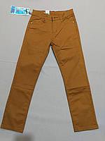 Катоновые брюки горчичные  стрейч для мальчика подростка, фото 1