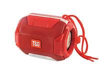 Маленькая Беспроводная bluetooth колонка TG-162 Pulse 5 W с  влагозащитой и разноцветной подсветкой Красная