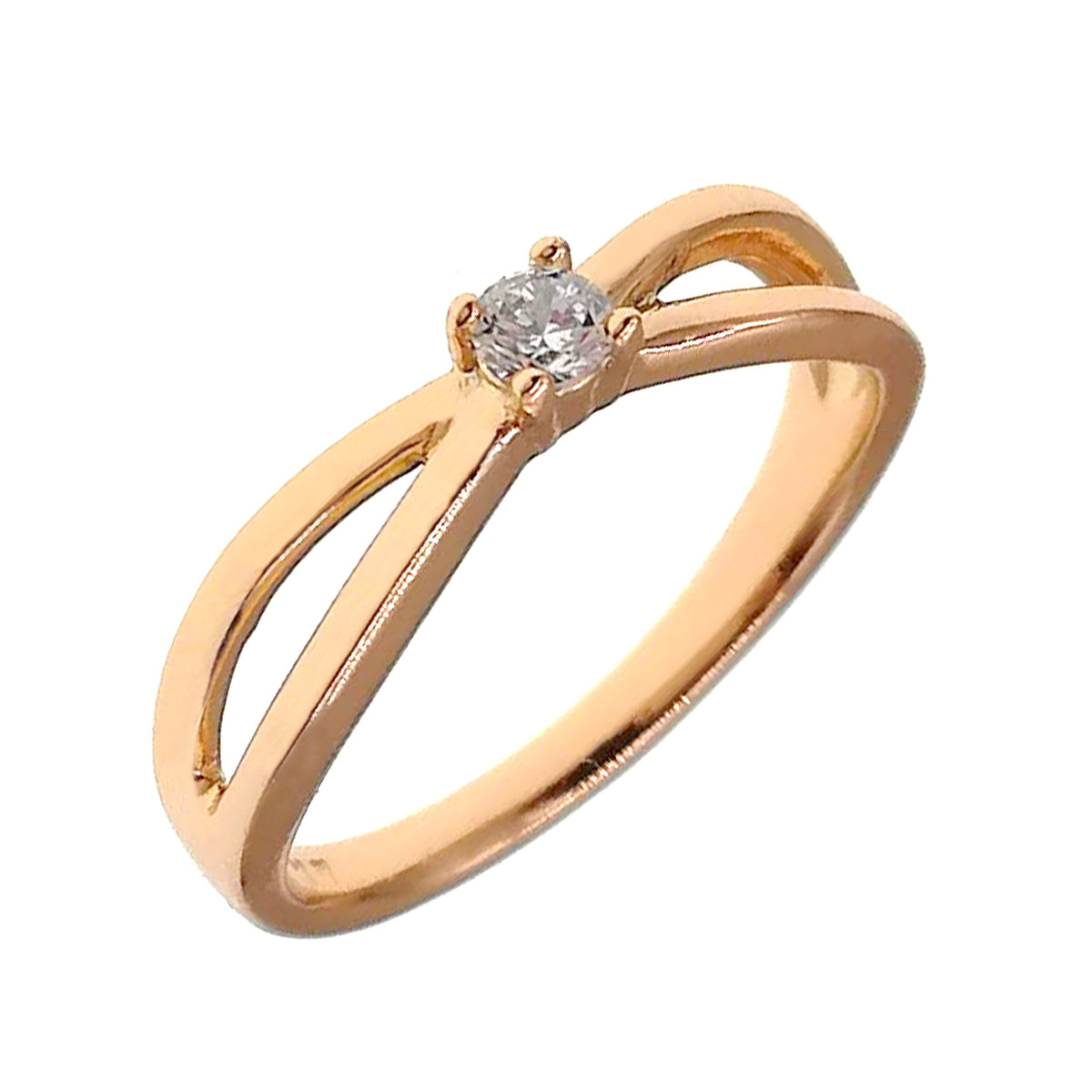 Кольцо Xuping из медицинского золота, белые фианиты, позолота 18K, 11887                               (17)