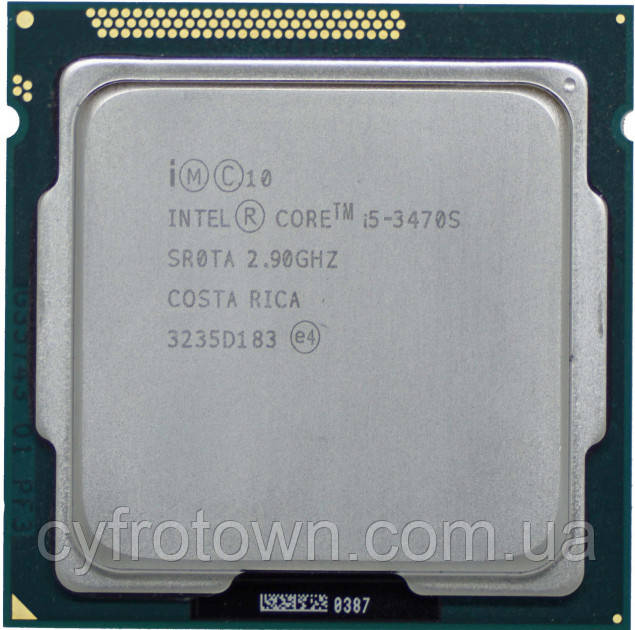 Процесори Intel Core i5 3470s 4x2.9-3.6GHz s1155 4 ядра