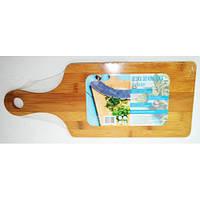 Доска деревянная бамбук с ручкой 40 * 16 * 1см 4221 Tadar