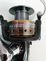 Катушка рыболовная карповая Sadei J3FR-60 С БАЙТРАНЕРОМ 8+1 подшипников, фото 3