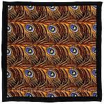 """Павлопосадский платок шелковый  шейный """"Магический наряд"""" рис. 1032-18 (крепдешин) размер 52х52 см, фото 4"""