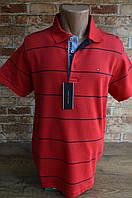 5030-Тенниска мужская Tommy Hilfiger красный.Трикотаж весна лето 2020, фото 1