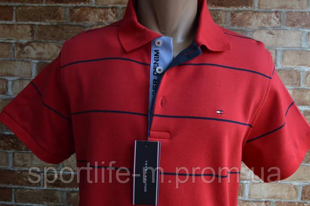 мужская тенниска красная томми хилфигер