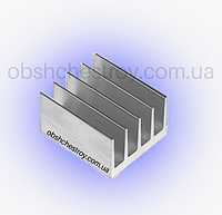 Радиаторный алюминиевый профиль 42х26 мм, фото 1