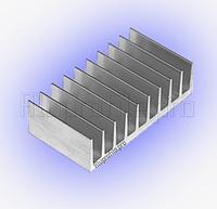 Алюминиевый профиль охлаждения радиодеталей 92х26 мм без покрытия