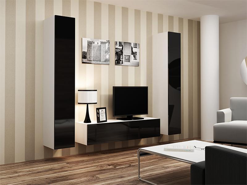 Гостиная VIGO 9 белый/черный (Cama)