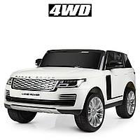 Электромобиль детский джип Land Rover Range Rover (M4175EBLR-1) | 3-8 лет, до 50 кг | 4 мотора, 2 аккумулятора