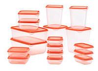 IKEA Набор контейнеров, 17 шт., прозрачный, оранжевый