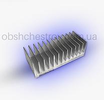 Алюминиевый профиль радиаторный 122х26 мм без покрытия