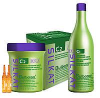 Набор BES Silkat Bulboton профилактика выпадения волос С1 1000 мл+ С2 12*10мл.