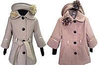 Детское кашемировое пальто со шляпкой опт и розница ,размеры 30-38-S419