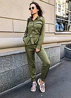 Женский комбинезон милитари с длинным рукавом и карманами 36KO586, фото 1