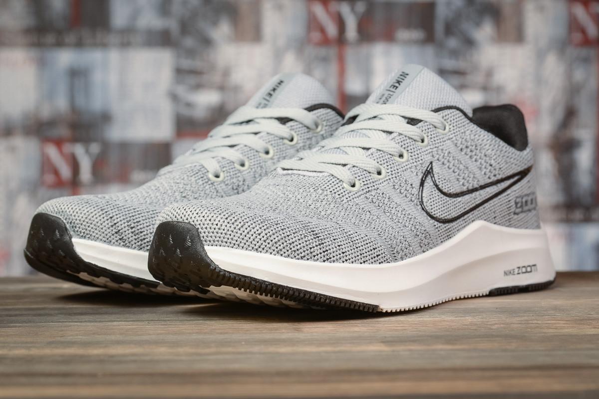 Мужские кроссовки Nike Zoom Winflo, серые / кросівки чоловічі Найк (Топ реплика ААА+)