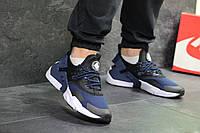 Кроссовки Nike Air Huarache, черные с синим