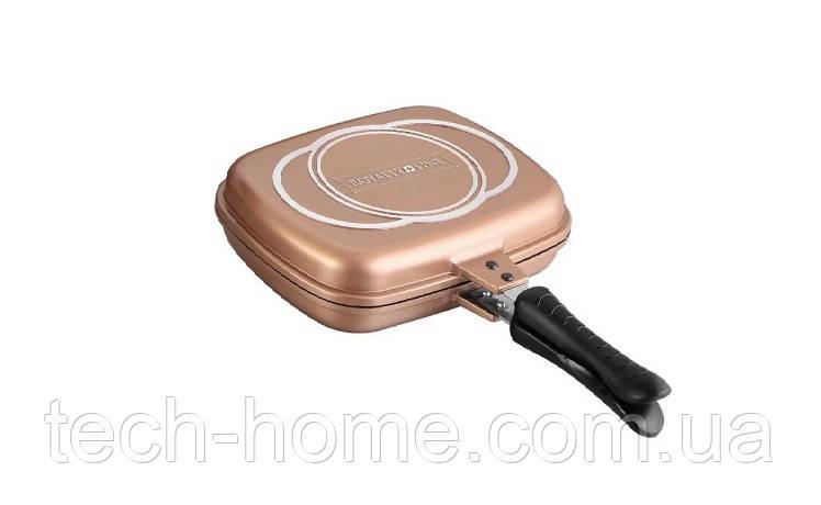 Сковорода гриль двусторонняя Royalty Line RL-DF28M Copper 32 cm