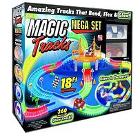 Детская гибкая игрушечная Дорога Magic Tracks 360 деталей,Детский конструктор автотрек,гоночный трек