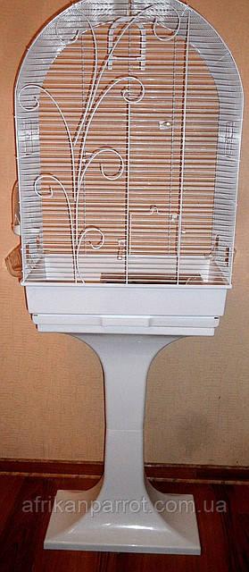 FOP Клетка EVITA  белая 53 х 33 х 80 см. с подставкой, фото 1