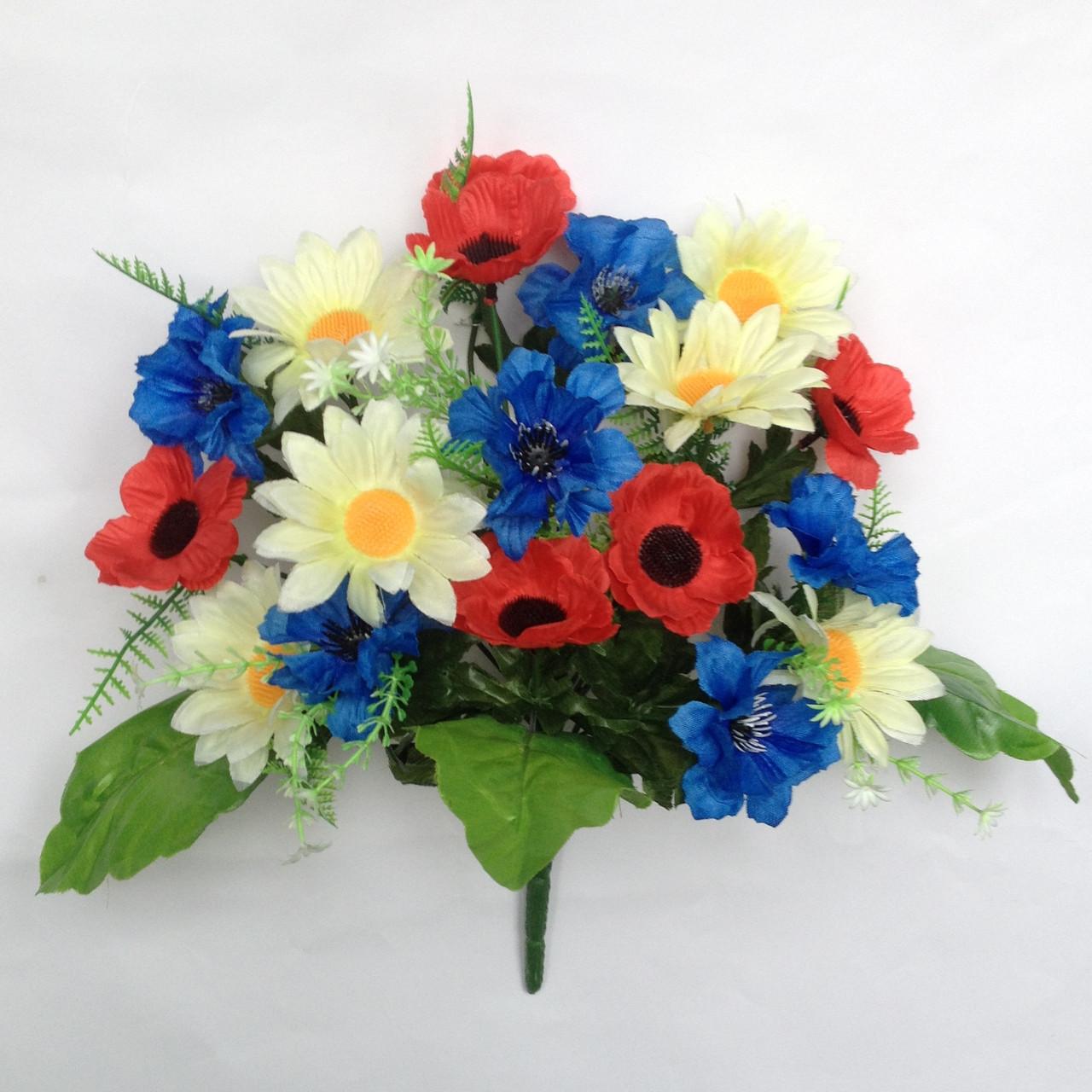 Букет композиция полевых цветов. 35 см. (10 шт.  в уп.)