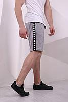 Серые шорты с черными лампасами Kappa, фото 1