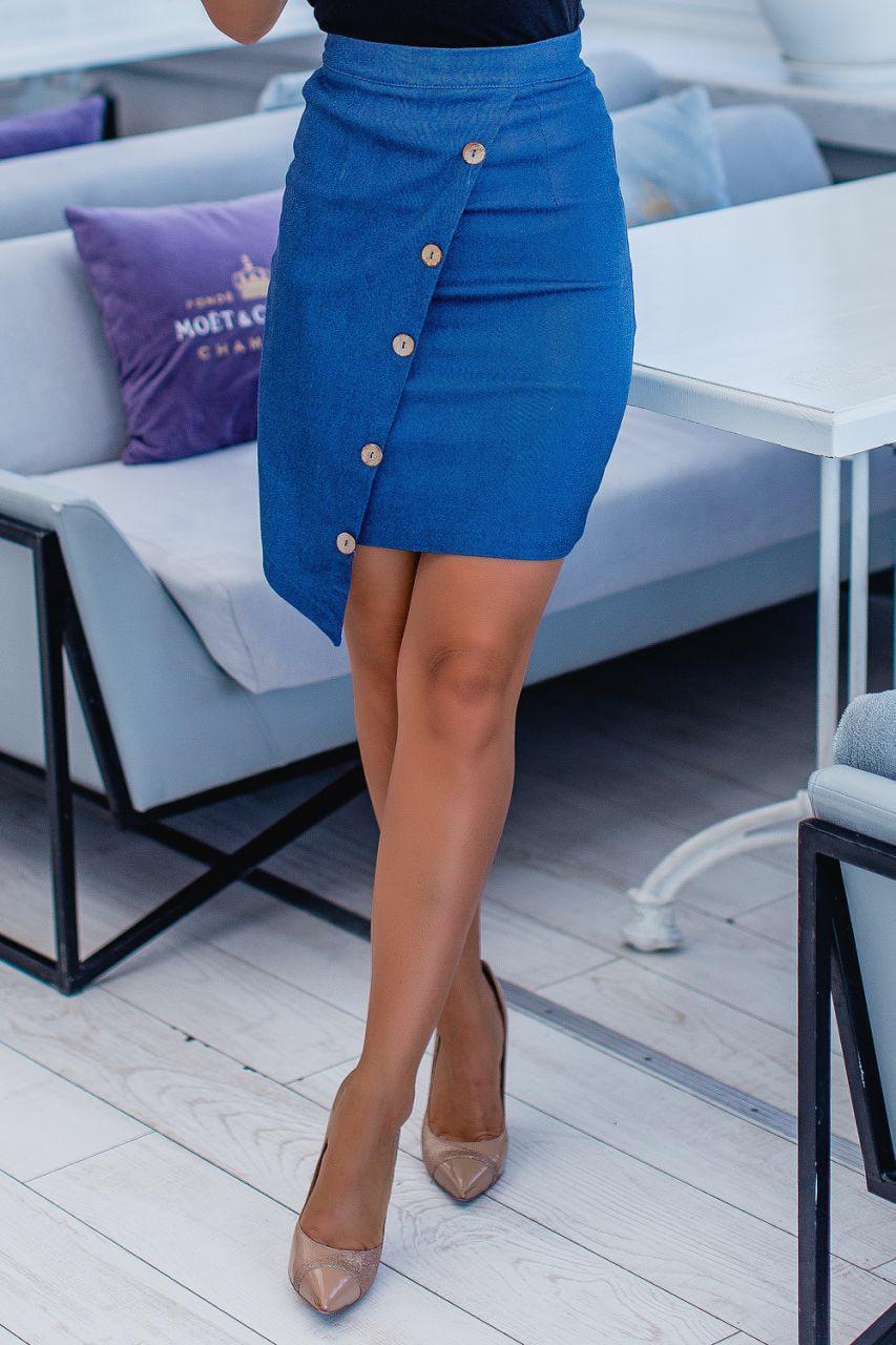 Красивая асимметричная женская юбка 42-48 (в расцветках)