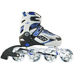 Роликовые коньки для мальчика Nils Extreme NA9006A Size 31-34 Blue ролики детские синего цвета