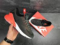 Кроссовки Nike Air Max 270, серые с оранжевым