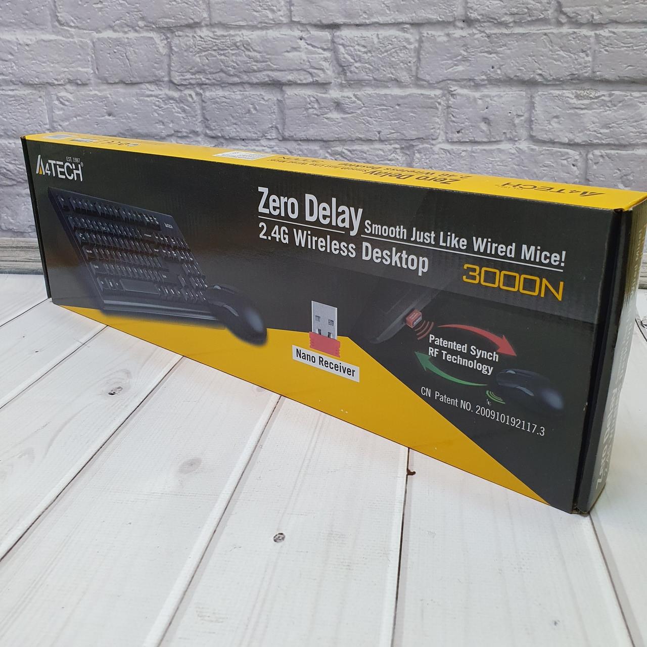 Беспроводные Клавиатуры  A4tech 3000N