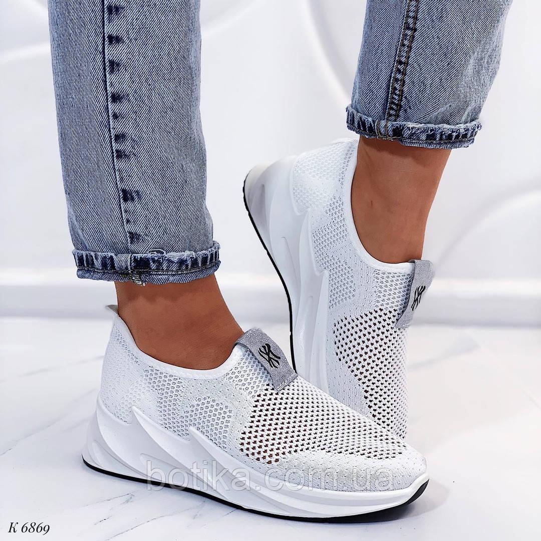 Стильные текстильные женские кроссовки