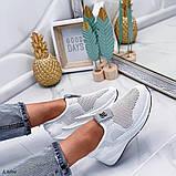 Стильные текстильные женские кроссовки, фото 7
