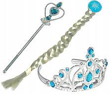 Набор карнавальный холодное сердце Эльзы коса палочка, корона 36697