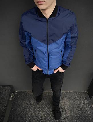 Курктка бомбер мужской Intruder синий двухцветный весенний S M L XL XXL, фото 2