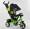 Велосипед Best Trike 6588 - 23-612 С ФАРОЙ свет и звуки САЛАТОВЫЙ стальная рама, колеса пена
