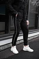 Мужские штаны из трикотажа топ-качества в черном цвете