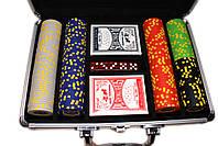 """Набор для покера """"Texas Holdem Poker"""" 200 фишек в чемодане, фото 4"""