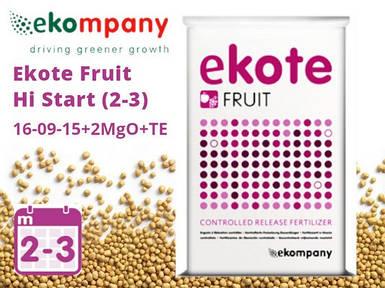 Удобрение Ekote Fruit Hi Start 16-09-15+2MgO+TE (2-3 месяца) - 25 кг